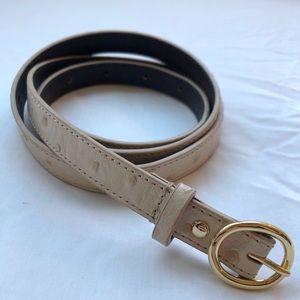 J Crew Dot Embossed Leather Thin Belt